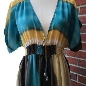 CALYPSO ST. BARTH SILK MAXI DRESS OVERSIZED SIZE 0